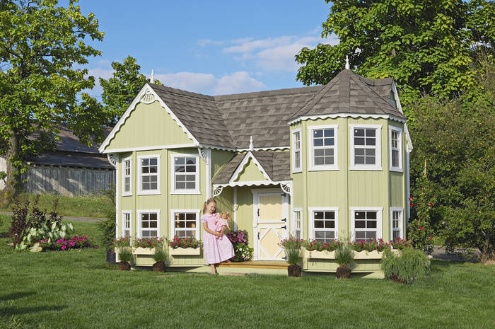 Victorian Backyard Floored Playhouse : 16 Sara?s Victorian Mansion  Swingsets and Playsets Nashville