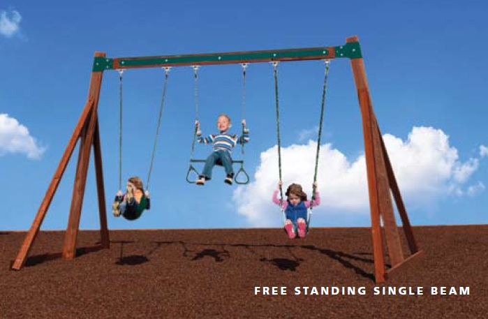 Free Standing Swing Beam Swingsets And Playsets Nashville Tn