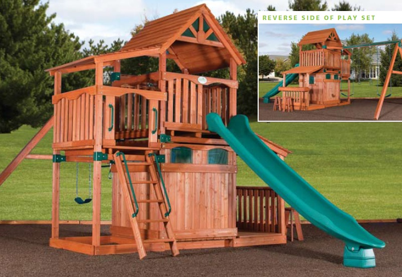 Olympian treehouse playhouse 4 swingsets and playsets for Tree house swing set