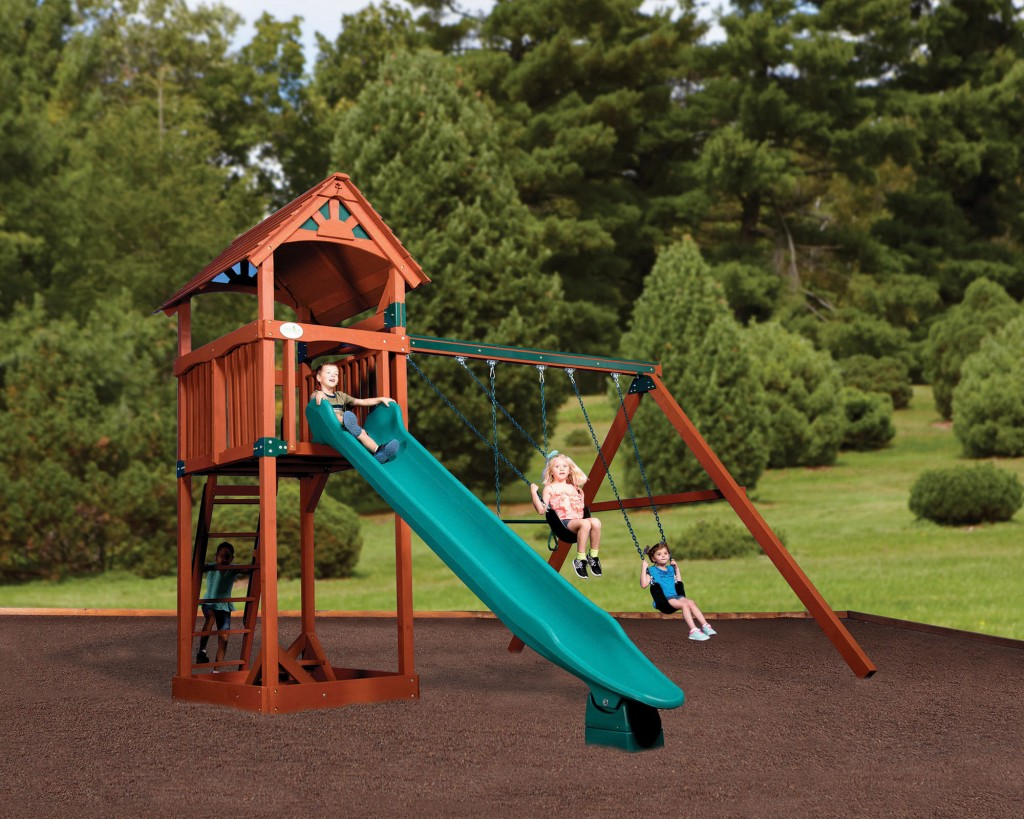Swingsets and playsets nashville tn olympian treehouse for How to build a treehouse roof
