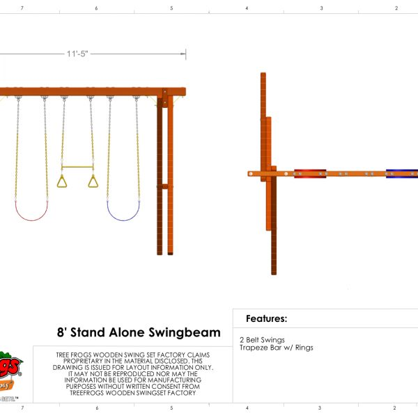 Swingsets And Playsets Nashville Tn 8 Foot Stand Alone Swing Beam