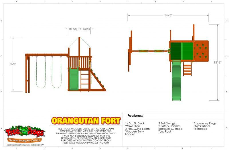 Swingsets And Playsets Nashville Tn Orangutan Fort W