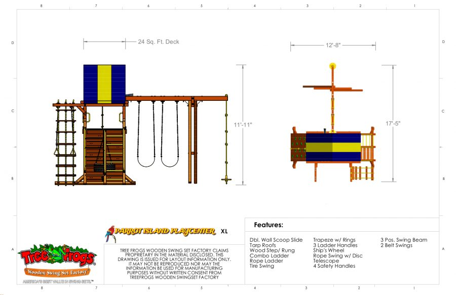Swingsets And Playsets Nashville Tn Parrot Island Playcenter Xl W