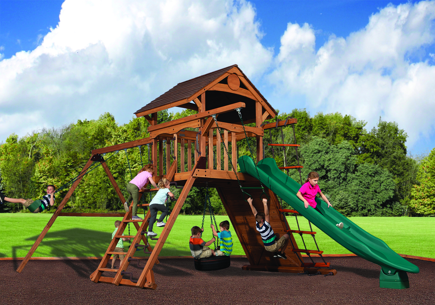 Swingsets And Playsets Nashville Tn Olympian Summit Xl 1